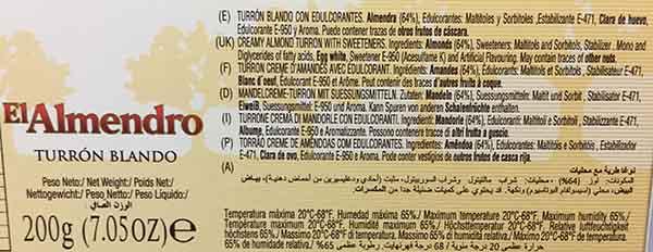 turron-sin-azucar-anadido-etiqueta