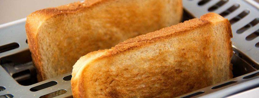 acrilamida pan en tostadora