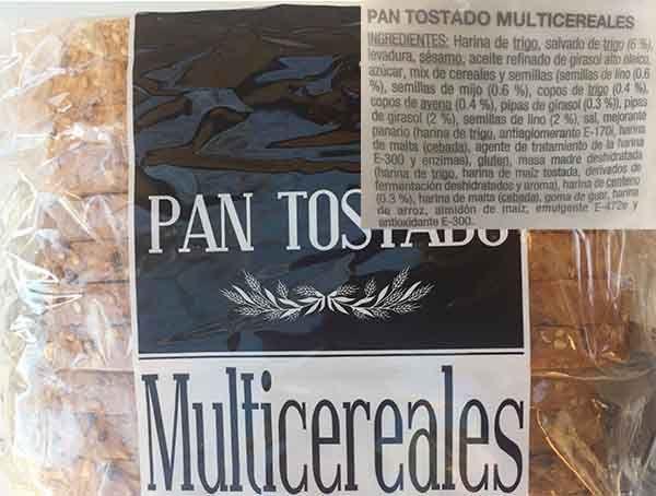 natural pan multicereales etiqueta