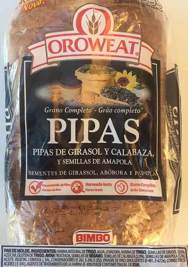 natural pan pipas ingredientes