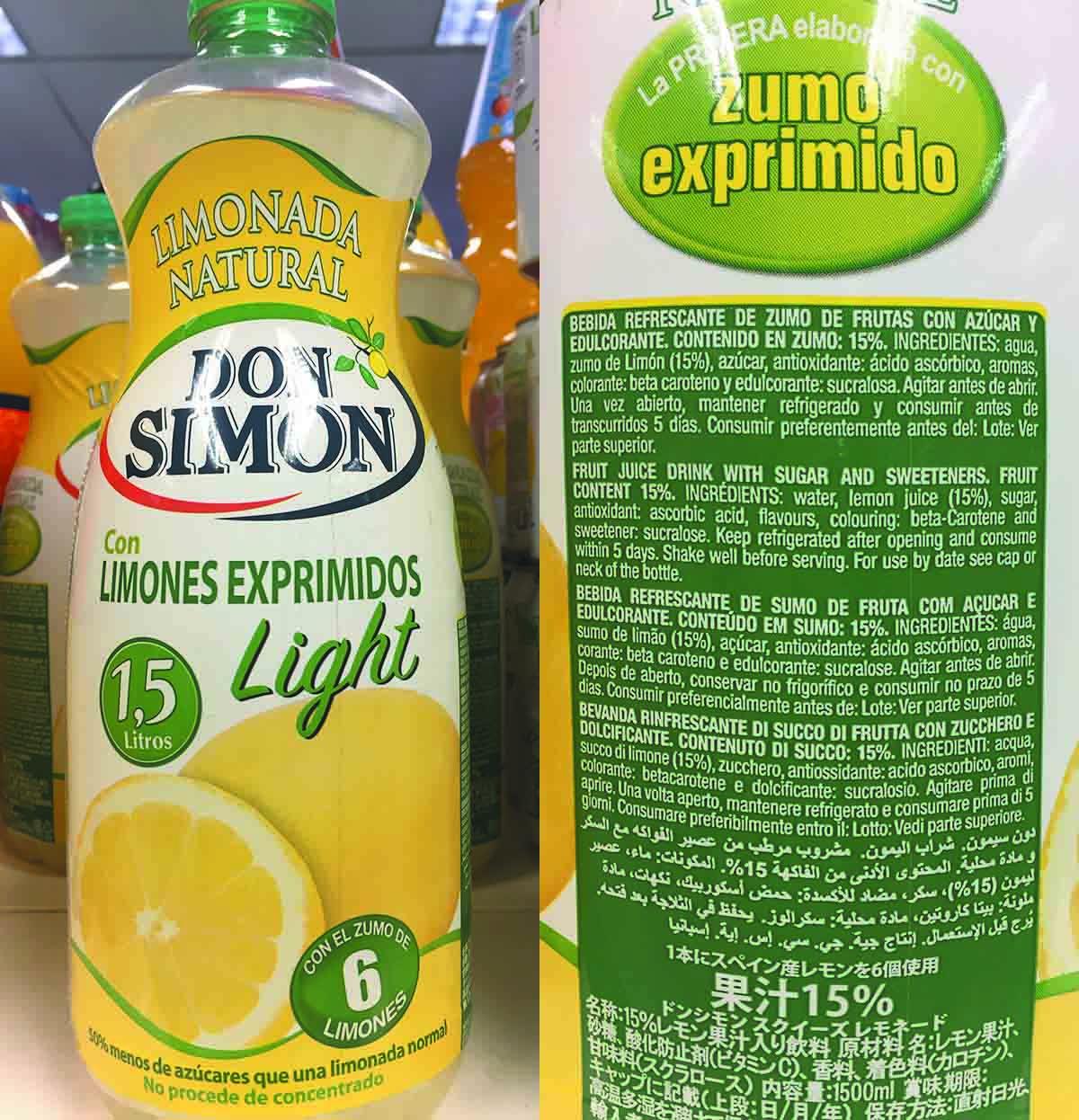 natural zumo de limon