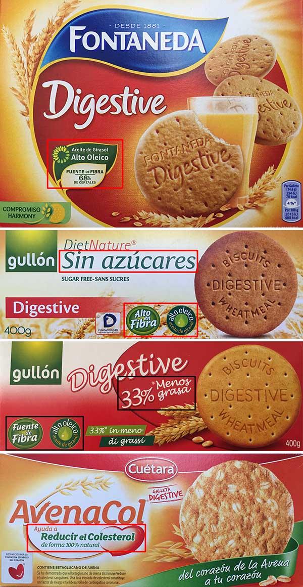 galletas digestive etiquetado frontales