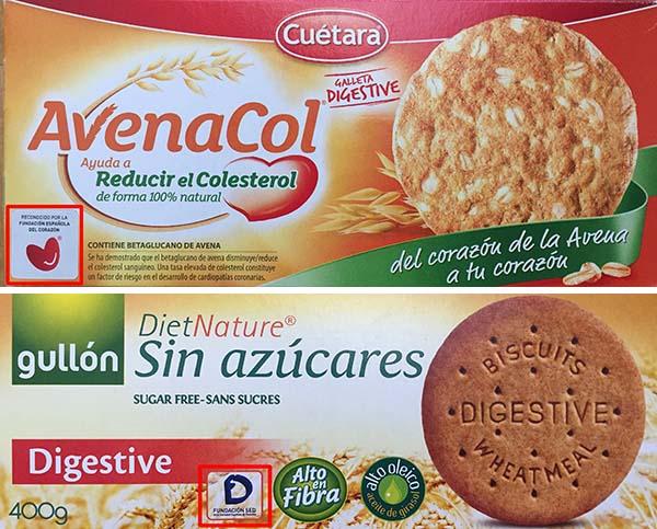 galletas digestive etiquetado sellos