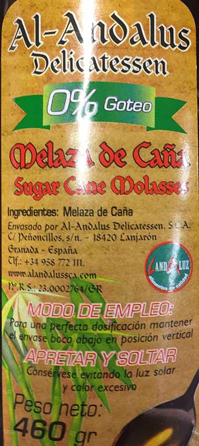 miel etiquetado melaza de caña