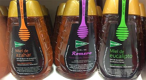 miel etiquetado variedades